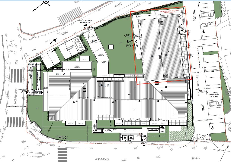 Plan masse résidence chateaudun